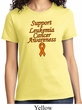 Support Leukemia Cancer Awareness Ladies T-shirt