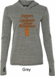 Support Leukemia Cancer Awareness Ladies Tri Blend Hoodie