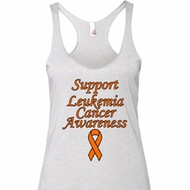 Support Leukemia Cancer Awareness Ladies Tri Blend Racerback