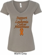 Support Leukemia Cancer Awareness Ladies V-neck