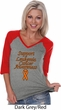 Support Leukemia Cancer Awareness Ladies V-neck Raglan