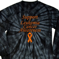 Support Leukemia Cancer Awareness Long Sleeve Tie Dye