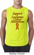 Support Leukemia Cancer Awareness Sleeveless Shirt