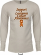 Support Leukemia Cancer Awareness Thermal Shirt