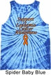 Support Leukemia Cancer Awareness Tie Dye Tank Top