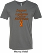 Support Leukemia Cancer Awareness V-neck