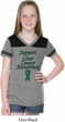 Support Liver Cancer Awareness Girls Football Tee