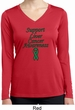 Support Liver Cancer Awareness Ladies Dry Wicking Long Sleeve