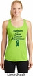 Support Liver Cancer Awareness Ladies Dry Wicking Racerback