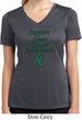 Support Liver Cancer Awareness Ladies Dry Wicking V-neck