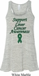 Support Liver Cancer Awareness Ladies Flowy Racerback