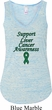 Support Liver Cancer Awareness Ladies Flowy V-neck Tank Top