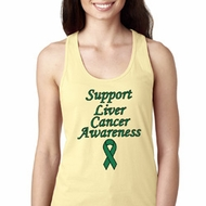Support Liver Cancer Awareness Ladies Ideal Racerback