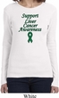 Support Liver Cancer Awareness Ladies Long Sleeve