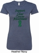 Support Liver Cancer Awareness Ladies Longer Length Shirt