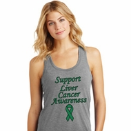 Support Liver Cancer Awareness Ladies Racerback