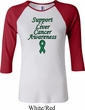 Support Liver Cancer Awareness Ladies Raglan Shirt
