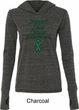 Support Liver Cancer Awareness Ladies Tri Blend Hoodie