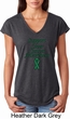 Support Liver Cancer Awareness Ladies Tri Blend V-neck