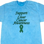 Support Liver Cancer Awareness Mineral Tie Dye T-shirt