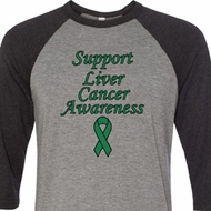 Support Liver Cancer Awareness Raglan Shirt