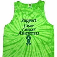 Support Liver Cancer Awareness Tie Dye Tank Top