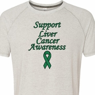 Support Liver Cancer Awareness Tri Blend T-shirt