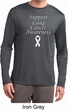 Support Lung Cancer Awareness Dry Wicking Long Sleeve
