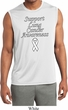 Support Lung Cancer Awareness Dry Wicking Sleeveless Shirt