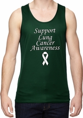 Support Lung Cancer Awareness Dry Wicking Tank Top
