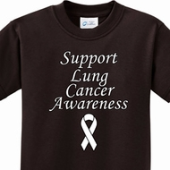 Support Lung Cancer Awareness Kids Shirts