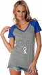 Support Lung Cancer Awareness Ladies Contrast V-neck