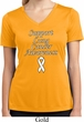 Support Lung Cancer Awareness Ladies Dry Wicking V-neck