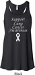 Support Lung Cancer Awareness Ladies Flowy Racerback