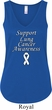 Support Lung Cancer Awareness Ladies Flowy V-neck Tank Top