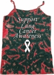 Support Lung Cancer Awareness Ladies Tie Dye Camisole Tank Top