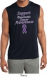 Support Pancreatic Cancer Awareness Dry Wicking Sleeveless Shirt