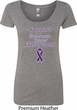 Support Pancreatic Cancer Awareness Ladies Scoop Neck