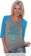 Support Prostate Cancer Ladies V-neck Raglan