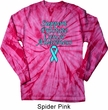 Support Prostate Cancer Long Sleeve Tie Dye Shirt
