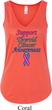 Support Thyroid Cancer Awareness Ladies Flowy V-neck Tank Top