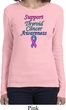 Support Thyroid Cancer Awareness Ladies Long Sleeve