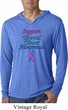 Support Thyroid Cancer Awareness Lightweight Hoodie Tee