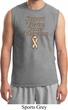 Support Uterine Cancer Awareness Muscle Shirt