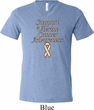 Support Uterine Cancer Awareness Tri Blend V-neck
