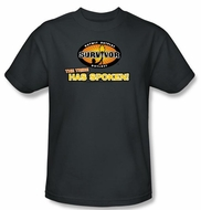 Survivor kids T-Shirt - The Tribe Has Spoken Charcoal Youth
