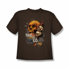 Survivor Shirt Kids Time To Go Black T-Shirt