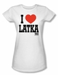 Taxi Juniors T-Shirt - I Heart Latka White