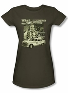 Taxi Juniors T-Shirt - Whats A Matta Army Green Adult