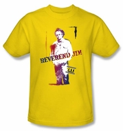 Taxi T-Shirt - Reverend Jim Adult Yellow